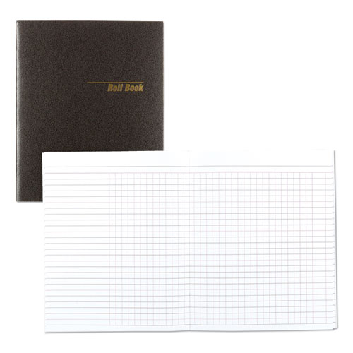 Roll Call Book, 9-1/2 x 7-7/8, Black, 48 Pages | by Plexsupply