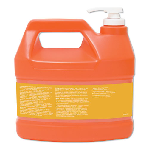 NATURAL ORANGE Smooth Hand Cleaner, Citrus Scent, 1 gal Pump Dispenser, 4/Carton