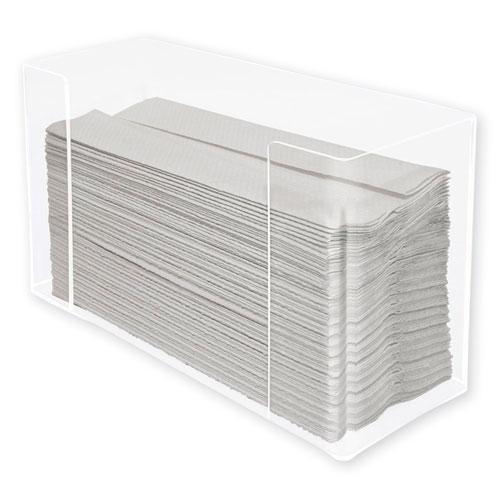 Kantek Multifold Paper Towel Dispenser, 12.5 x 4.4 x 7, Clear