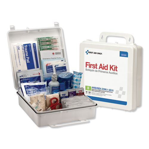 ANSI 2015 Compliant Class B Type III First Aid Kit for 50 People, 199 Pieces