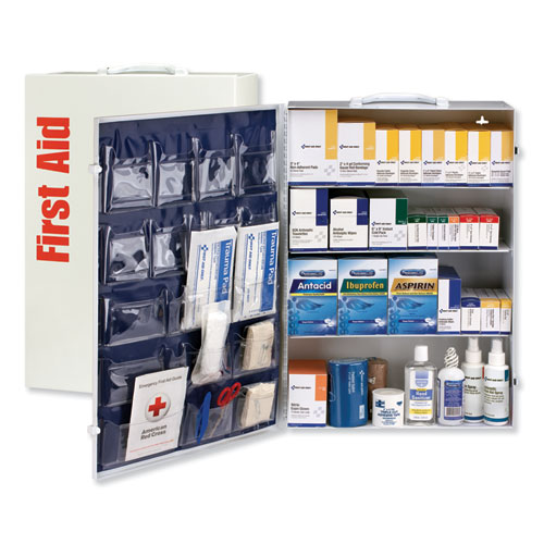 ANSI Class B 4 Shelf First Aid Station with Medications, 1437 Pieces