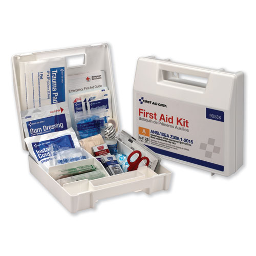 ANSI 2015 Compliant Class A Type I & II First Aid Kit for 25 People, 89 Pieces | by Plexsupply