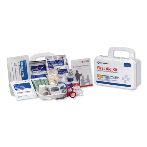 First Aid Only™ ANSI Class A 10 Person First Aid Kit, 71 Pieces