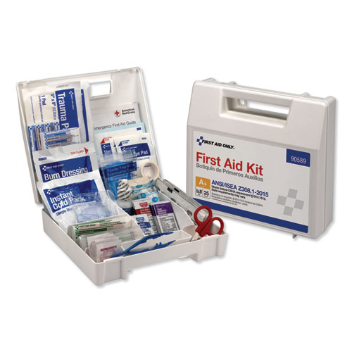ANSI 2015 Compliant Class A+ Type I & II First Aid Kit for 25 People, 141 Pieces | by Plexsupply