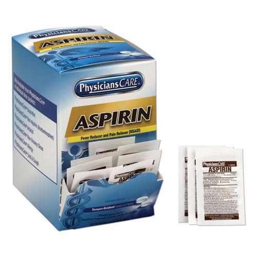 Aspirin Medication, Two-Pack, 50 Packs/Box