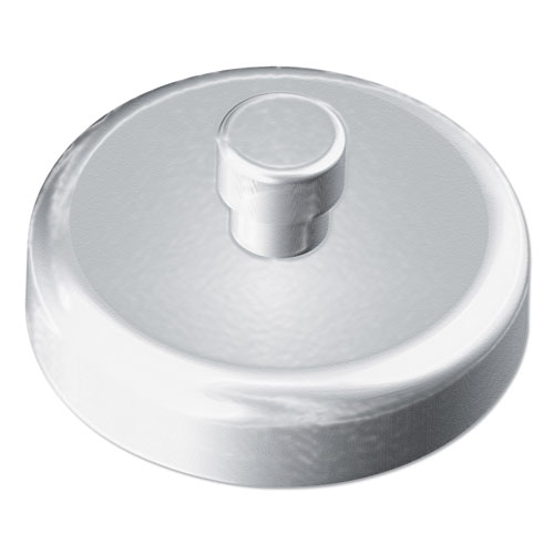 Mounting Magnets for Glove and Towel Dispensers, 1.5 Diameter, White/Silver, 4/Pack