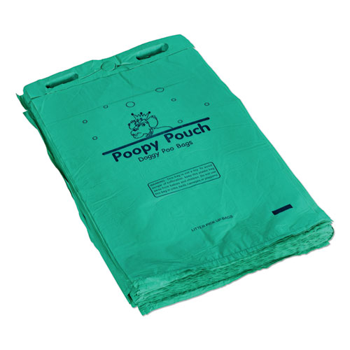 Header Pet Waste Bags, 20 microns, 8 x 13, Green, 2,400/Carton