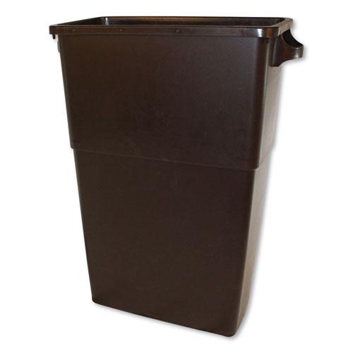 Impact® Thin Bin Containers, Rectangular, Polyethylene, 23 gal, Gray