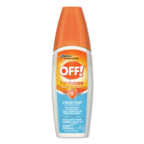 OFF!® FamilyCare Unscented Spray Insect Repellent, 6 oz Spray Bottle