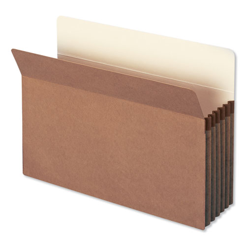 "Redrope Drop Front File Pockets, 5.25"" Expansion, Legal Size, Redrope, 10/Box 