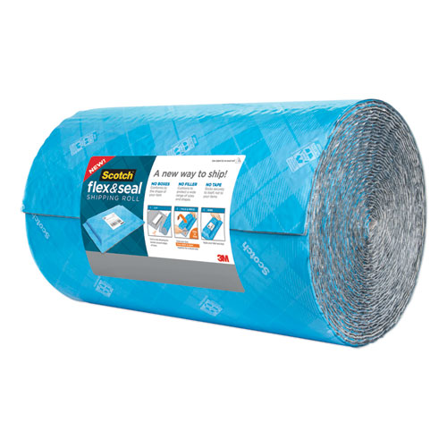 Flex and Seal Shipping Roll, 15 x 50 ft, Blue/Gray