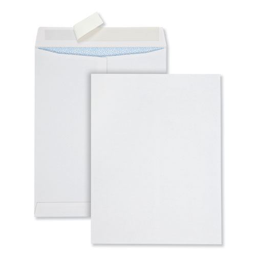 Redi-Strip Security Tinted Envelope, 13 1/2, Square Flap, Redi-Strip Closure, 10 x 13, White, 100/Box