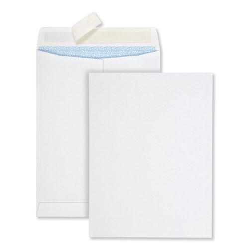 Redi-Strip Security Tinted Envelope, 10 1/2, Square Flap, Redi-Strip Closure, 9 x 12, White, 100/Box