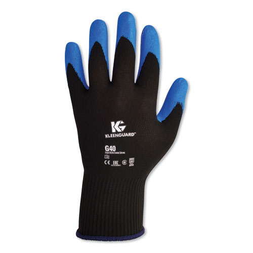 G40 Nitrile Coated Gloves, 240 mm Length, Large/Size 9, Blue, 12 Pairs