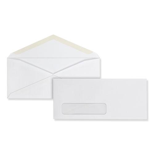 Business Envelope, 10, Monarch Flap, Gummed Closure, 4.13 x 9.5, White, 500/Box