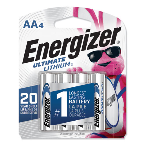 Energizer® Ultimate Lithium AA Batteries, 1.5V, 24/Box