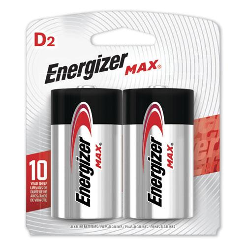 Energizer® MAX Alkaline D Batteries, 1.5V, 2/Pack