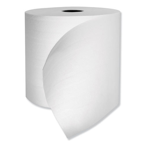 "Morcon Paper Hardwound Roll Towels, 1-Ply, 7.25"" x 500 ft, White, 6 Rolls/Carton"