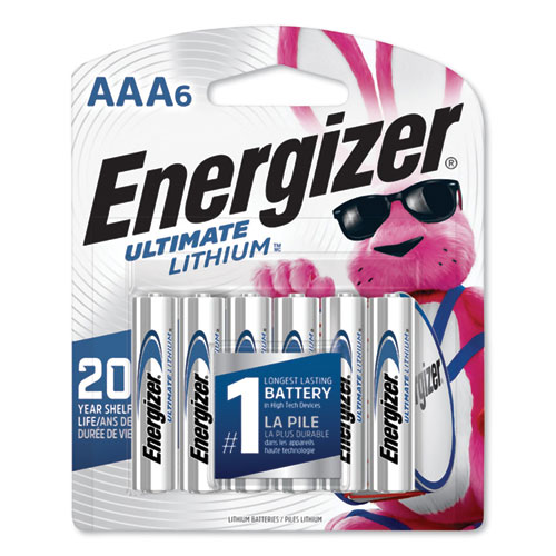Energizer® Ultimate Lithium AAA Batteries, 1.5V, 12/Pack