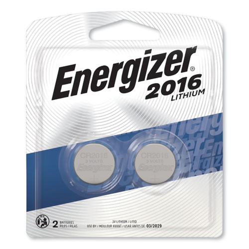 Energizer® 2016 Lithium Coin Battery, 3V, 2/Pack