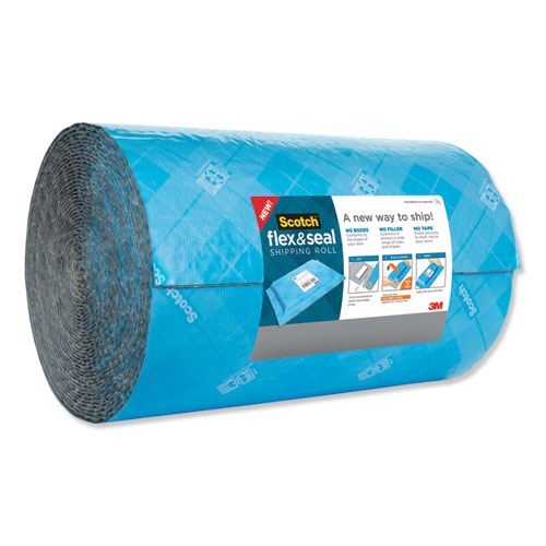 Flex and Seal Shipping Roll, 15 x 200 ft, Blue/Gray