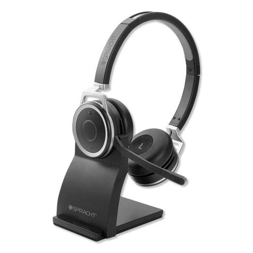 ZuM BT Prestige Headset with USB Dongle, Binaural, Over-the-Head, Black