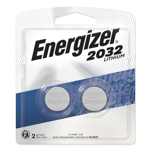 2032 Lithium Coin Battery, 3 V, 2/Pack