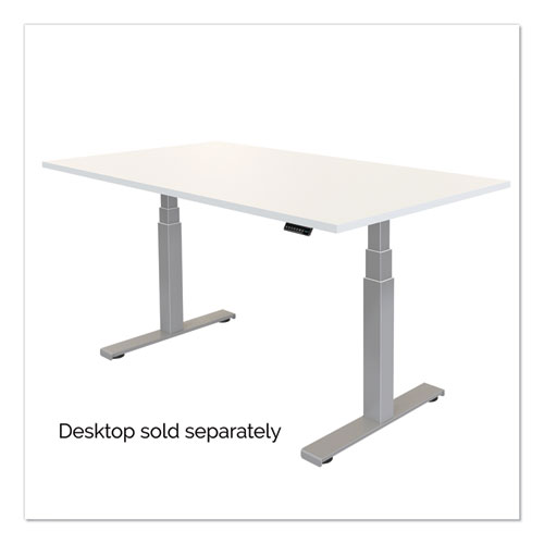 Cambio Height Adjustable Desk Base (Base Only), 72w x 30d x 50.25h, Silver
