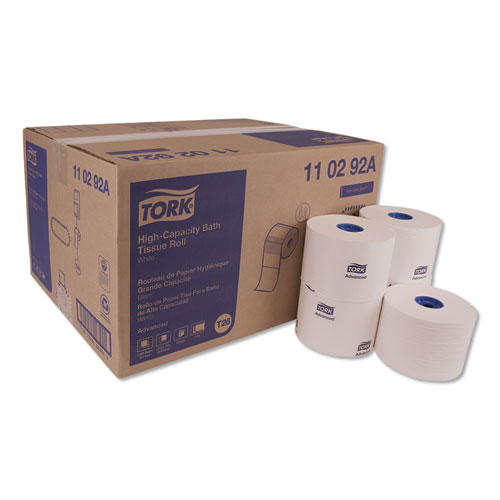 Tork® Advanced High Capacity Bath Tissue, Septic Safe, 2-Ply, White, 1,000 Sheets/Roll, 36/Carton