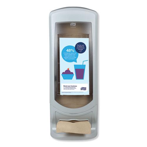 Xpressnap Stand Napkin Dispenser, 9 1/4 x 9 1/4 x 24 1/2, Gray