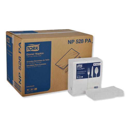 "Tork® Advanced Dinner Napkins, 2-Ply, 15"" x 17"", 1/8 Fold, White, 100/PK, 28 PK/CT"