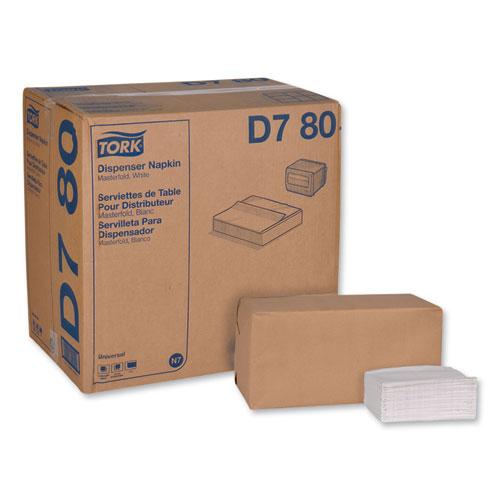 """Universal Masterfold Dispenser Napkins, 1-Ply, 13"""" x 12"""", White, 6000/Carton"""