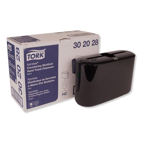 Xpress Countertop Towel Dispenser, 12.68 x 4.56 x 7.92, Black