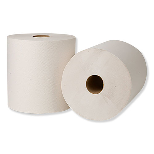 "Tork® Hardwound Roll Towels, 7.88"" x 800 ft, Natural White, 6 Rolls/Carton"