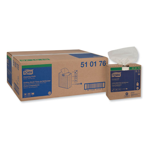 Tork® Cleaning Cloth, 8.46 x 16.13, White, 100 Wipes/Box, 10 Boxes/Carton