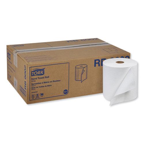 "Universal Hand Towel Roll, 7.88"" x 800 ft, White, 6 Rolls/Carton"