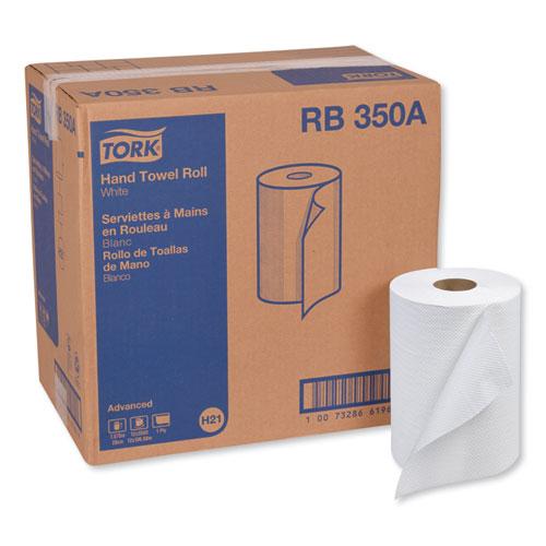 "Tork® Advanced Hardwound Roll Towel, 7.88"" x 350 ft, White, 12 Rolls/Carton"