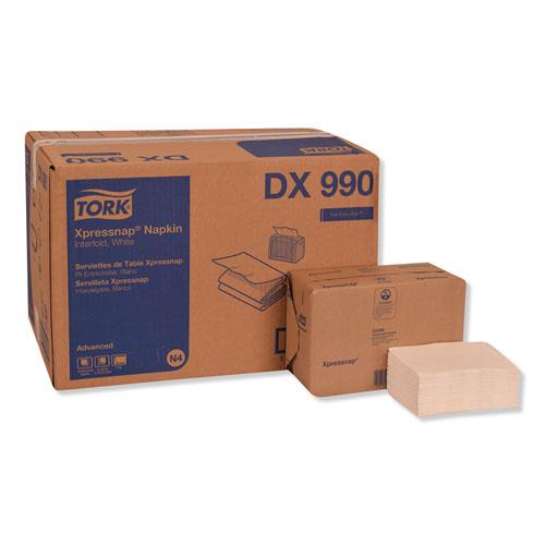 Xpressnap Interfold Dispenser Napkins, 2-Ply, 6.5 x 8.5, White, 6000/Carton