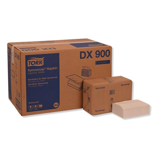 Xpressnap Interfold Dispenser Napkins, 1-Ply, Bag-Pack, 13 x 8.5, White, 6000/Carton