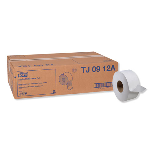 Universal Jumbo Bath Tissue, Septic Safe, 1-Ply, White, 3.48 x 2,000 ft, 12 Roll/Carton
