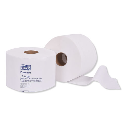 Tork® Premium Bath Tissue Roll with OptiCore, Septic Safe, 2-Ply, White, 800 Sheets/Roll, 36/Carton