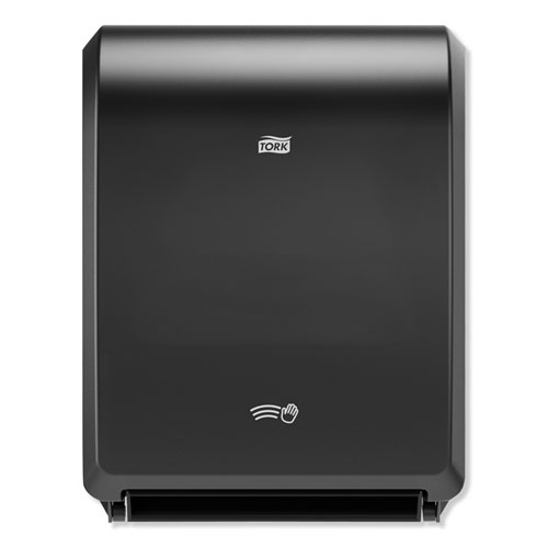 "Electronic Hand Towel Roll Dispenser, 8"" Roll, 12.32 x 9.32 x 15.95, Black"