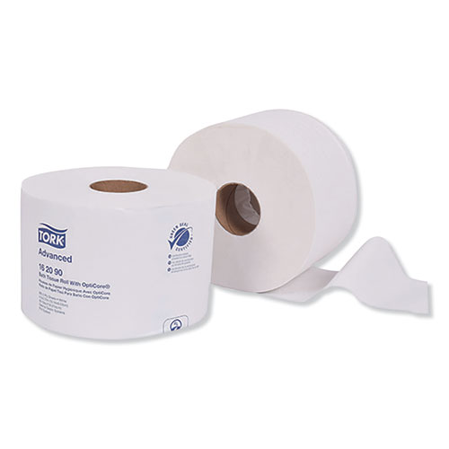 Tork® Advanced Bath Tissue Roll with OptiCore, Septic Safe, 2-Ply, White, 865 Sheets/Roll, 36/Carton