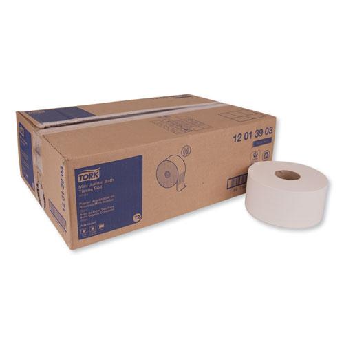 "Tork® Advanced Jumbo Bath Tissue, Septic Safe, 1-Ply, White, 3.48"" x 1200 ft ,12 Rolls/Carton"