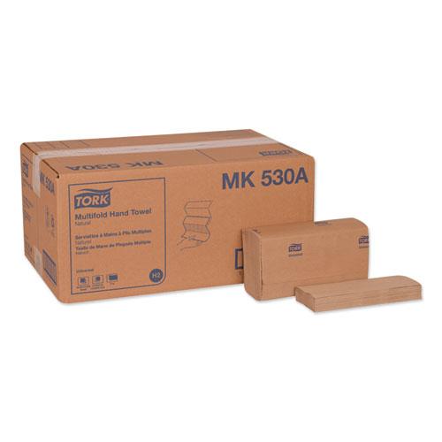 Universal Multifold Hand Towel, 9.13 x 9.5, Natural, 250/Pack,16 Packs/Carton