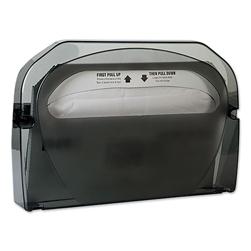 Toilet Seat Cover Dispenser, 16 x 3.125 x 11.5, Smoke, 12/Carton