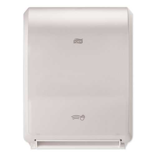 """Electronic Hand Towel Roll Dispenser, 7.5"""" Roll, 12.32 x 9.32 x 15.95, White"""