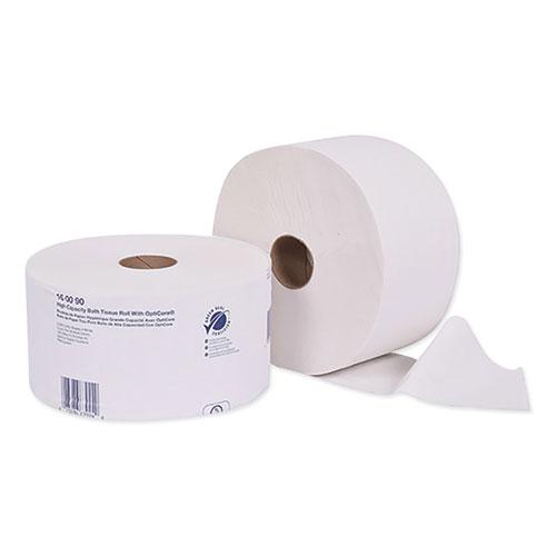 Universal High Capacity Bath Tissuel w/OptiCore, Septic Safe, 2-Ply, White, 2000/Roll, 12/Carton