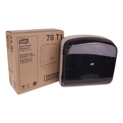 Tork® Multifold Hand Towel Dispenser, 12.36 x 5.18 x 13, Smoke/Gray