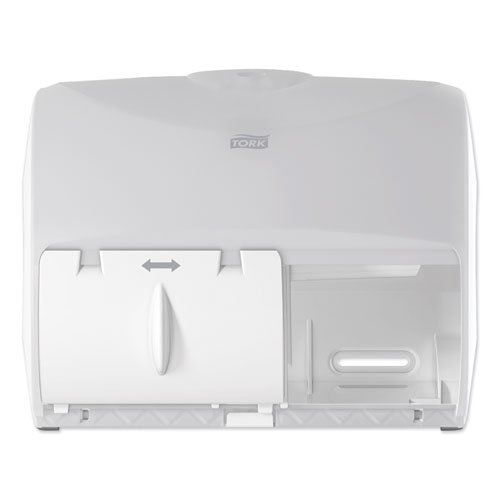 Twin Bath Tissue Roll Dispenser for OptiCore,11.06 x 7.18 x 8.81, White